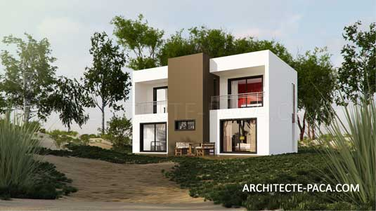 Architecte marseille agence architecture contemporaine for Plan petite maison moderne